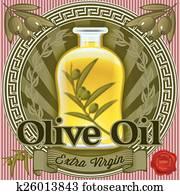 set of elements for design for oliv