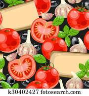 Tomato and cheese seamless