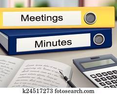 versammlungen, und, minuten, mappen