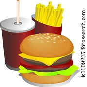Combo meal illustration