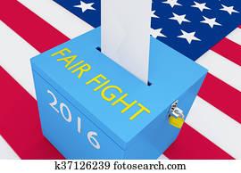 Fair Fight election concept