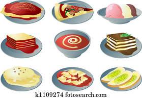 Italian cuisine icons