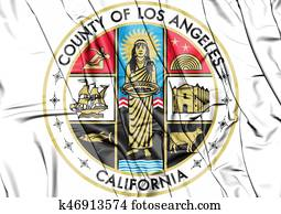 Seal of Los Angeles County, USA.