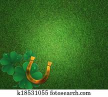 St Patricks Day Grass Background