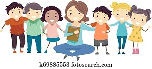 Stickman Kids Group Counseling Psychiatrist