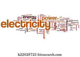 Electricity word cloud