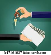 Sale and purchase of real estate.