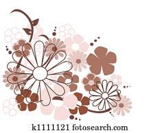 spring flowers vector illustration
