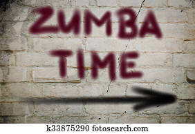Zumba Time Concept
