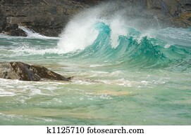 Majestic Waves on Rocks