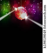 Music Multicolor Disco Background