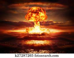 explosion nuclear bomb in ocean