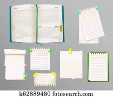 Diary and message notes illustration