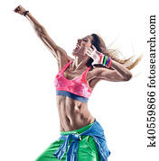 woman fitness excercises zumba dancer dancing