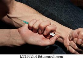 drug in a vein