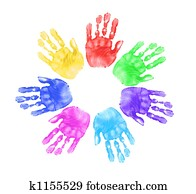Hands of Children in School