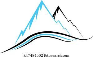Mountain icons