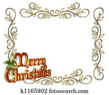 Christmas Border Frame 3D