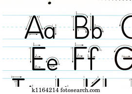 Learning Letters Chart