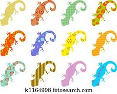 patterned lizards