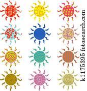 patterned suns