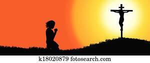 Prayer silhouette - Timeline cover