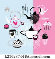 tea party graphics