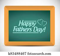 Happy fathers day message on a blackboard.