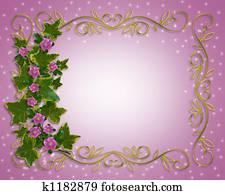 Ivy Floral Border element
