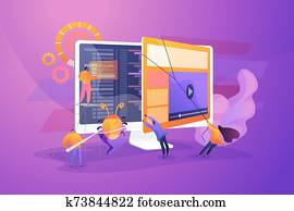 Software testing concept vector illustration