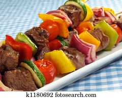 Steak & Vegetable Kebabs