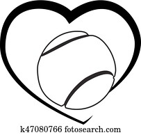 Tennis ball Heart logo