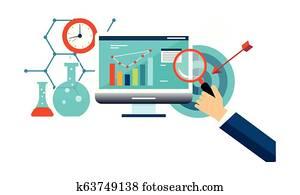Business analysis, business management, internet marketing vector Illustration