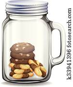 Cookies in the glass jar