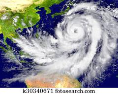 Hurricane north of Australia