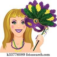 Mardi Gras Lady