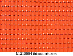 background made of roofing tiles