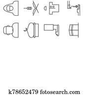 moslem, kaufmannsladen, symbol