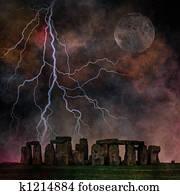 Stormy Stonehenge