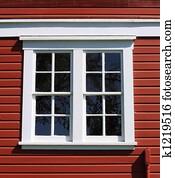 White Framed Barn Window