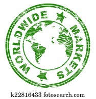 Worldwide Markets Means Globally E-Commerce And Exporting