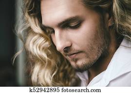 blond young man