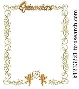 15th Birthday Quinceanera Invitatio