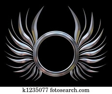 Abstract Chromed Wings