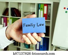 Business concept about Family Law  with inscription on the page.