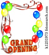 Grand Opening Balloons Template