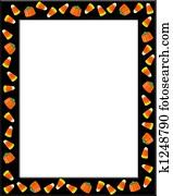 Halloween Candy Corn Frame Black