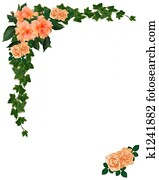 Ivy, Hibiscus and Roses Floral