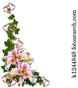 Lily Floral Wedding Invitation