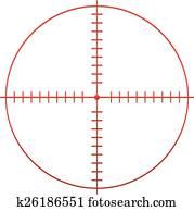 Red Target Mark, Reticle, Cross Hai